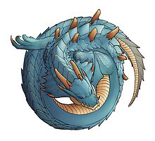 Lagiacrus, Lord of the Seas by Christina Weinman