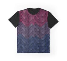 Bisexual Diamond Weave Pattern Graphic T-Shirt