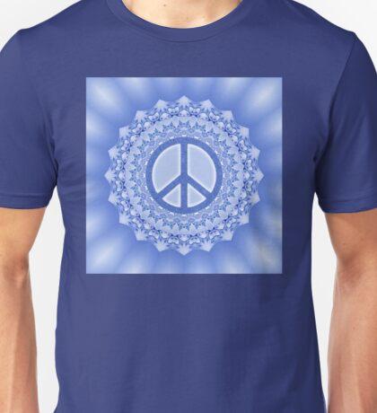 Lotus Flower Power Peace Mandala blue Unisex T-Shirt