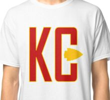 KC MONOGRAM 2 red on white Classic T-Shirt