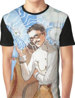 Nikola Tesla - The Magician Graphic T-Shirt