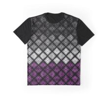 Asexual Diamond Scales Pattern Graphic T-Shirt