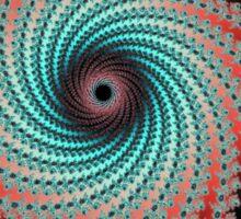 Great Hypnotic Swirl - black, bordeaux, turquoise Sticker