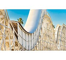 Rollercoaster Tunnel Photographic Print