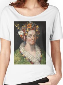 Giuseppe Arcimboldo - Flora 1589 Women's Relaxed Fit T-Shirt