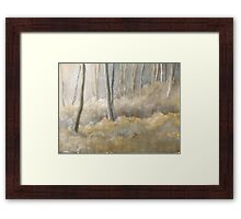 Forest frost mixed media & watercolour Framed Print