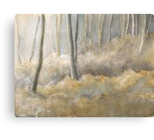 Forest frost mixed media & watercolour Canvas Print