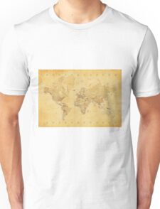 Yellow Mapping World Unisex T-Shirt