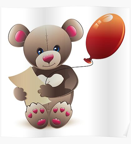 Brown Teddy Bear Poster