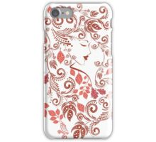 Autumn Girl with Floral 5 iPhone Case/Skin