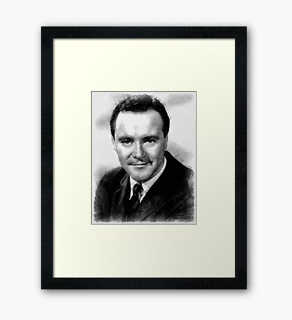 Jack Lemmon Hollywood Actor Framed Print