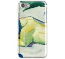 Franz Marc - Dog Lying in the Snow (1911)  iPhone Case/Skin