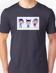 Collection of cute winter children Unisex T-Shirt
