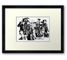 The Many Faces of.... Framed Print