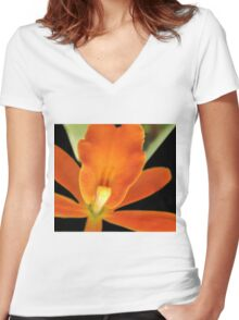 Carrot Top - Orchid Alien Discovery Women's Fitted V-Neck T-Shirt