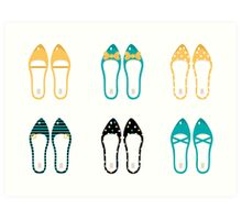 Cute Shoes collection. Vector Illustration Art Print