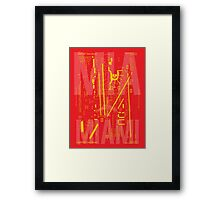 MIA Miami Airport Diagram Framed Print