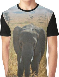 Elephant in the Serengeti Graphic T-Shirt