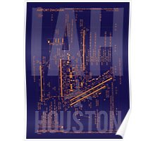 IAH Houston Airport Diagram Poster