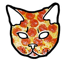 Pizza Cat Photographic Print