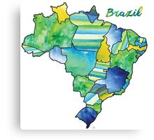 Watercolor Countries - Brazil Canvas Print
