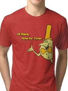 Time for Timer - Hi There - half shot Tri-blend T-Shirt