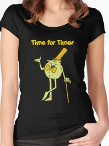 Time for Timer - Full Shot Women's Fitted Scoop T-Shirt