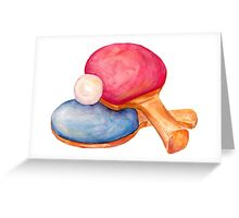 ping pong. table tennis Greeting Card