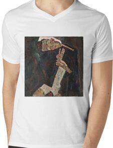 Egon Schiele - The Lyricist (1911)  Mens V-Neck T-Shirt