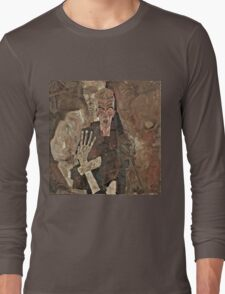 Egon Schiele - Self Seer II (Death and Man) (1911)  Long Sleeve T-Shirt