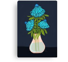 Blue Echinacea Flower Bouquet Canvas Print