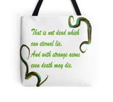 H.P. Lovecraft Quote Tote Bag