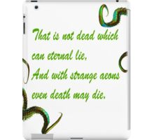 H.P. Lovecraft Quote iPad Case/Skin