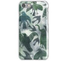 Ancient Green Birds iPhone Case/Skin