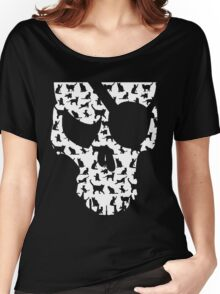 skull and cats  Women's Relaxed Fit T-Shirt