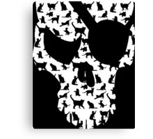 skull and cats  Canvas Print