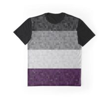 Asexual Pixel Flag Graphic T-Shirt