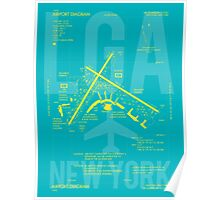 LGA New York Airport Diagram Poster
