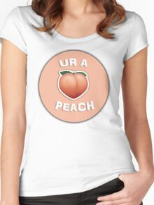 ur a peach Women's Fitted Scoop T-Shirt