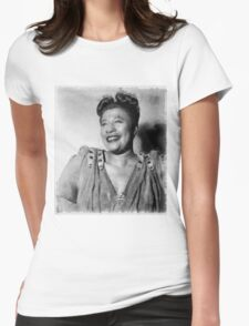 Ella Fitzgerald Singer Womens Fitted T-Shirt