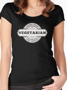 Vegetarian Natural Grains and Veggies Women's Fitted Scoop T-Shirt