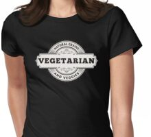 Vegetarian Natural Grains and Veggies Womens Fitted T-Shirt
