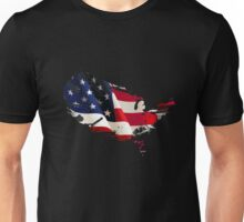 Patriot American Map Flag Unisex T-Shirt