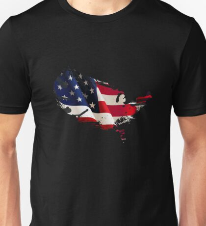 Patriot American Map Flag Unisex T-Shirt