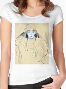 Gustav Klimt - Head Of A Woman  Women's Fitted Scoop T-Shirt