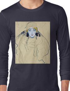 Gustav Klimt - Head Of A Woman  Long Sleeve T-Shirt