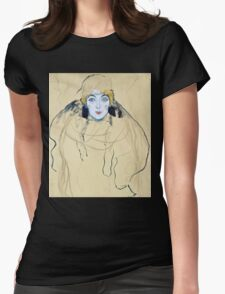 Gustav Klimt - Head Of A Woman  Womens Fitted T-Shirt