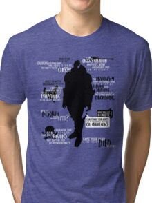 Mass Effect - Garrus Quotes Tri-blend T-Shirt