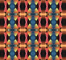 Colorful Textured Abstract  by perkinsdesigns