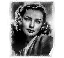 Gene Tierney Hollywood Actress Poster